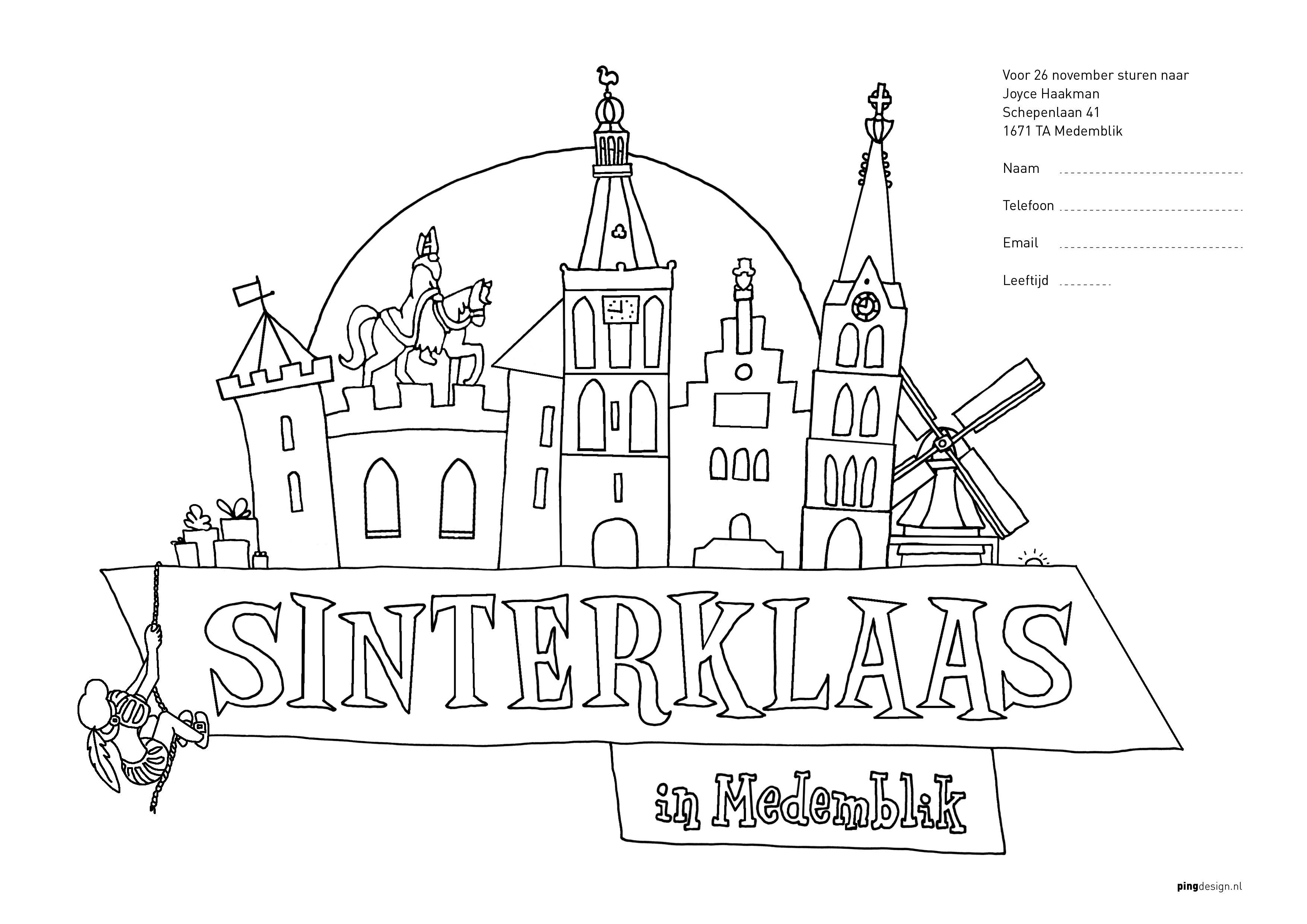 Kleurplaten Prijs Winnen Prijswinnaars Sinterklaaskleurwedstrijd Medemblik