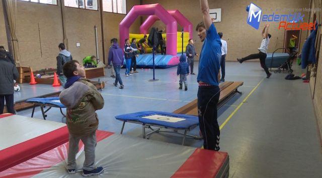 sporten met vluchtelingen